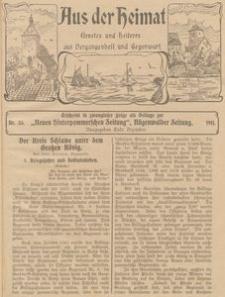 Aus der Heimat. Ernstes und Heiteres aus Vergangenheit und Gegenwart, 1911, Nr. 33