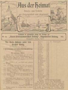 Aus der Heimat. Ernstes und Heiteres aus Vergangenheit und Gegenwart, 1911, Nr. 36