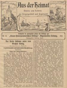 Aus der Heimat. Ernstes und Heiteres aus Vergangenheit und Gegenwart, 1911, Nr. 37
