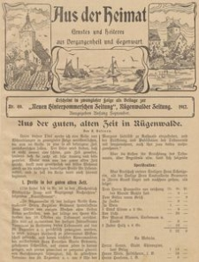 Aus der Heimat. Ernstes und Heiteres aus Vergangenheit und Gegenwart, 1911, Nr. 40