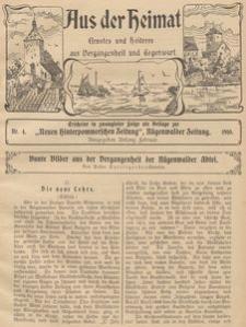 Aus der Heimat. Ernstes und Heiteres aus Vergangenheit und Gegenwart, 1910, Nr. 4
