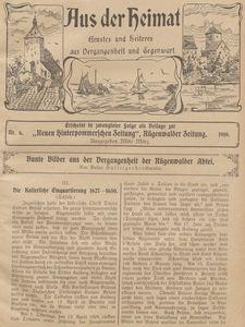 Aus der Heimat. Ernstes und Heiteres aus Vergangenheit und Gegenwart, 1910, Nr. 6