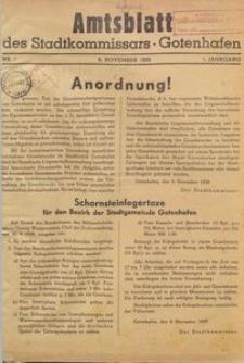 Amtsblatt des Stadtkommissars. Gotenhafen