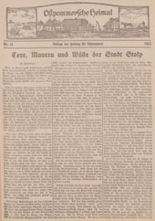 Ostpommersche Heimat. Beilage der Zeitung für Ostpommern, 1934, Nr. 14