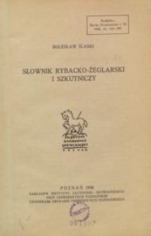 Słownik rybacko-żeglarski i szkutniczy