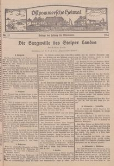 Ostpommersche Heimat. Beilage der Zeitung für Ostpommern, 1934, Nr. 17