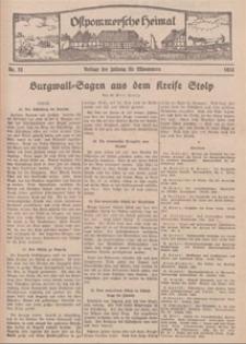 Ostpommersche Heimat. Beilage der Zeitung für Ostpommern, 1934, Nr. 22