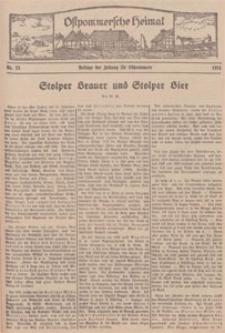 Ostpommersche Heimat. Beilage der Zeitung für Ostpommern, 1934, Nr. 23