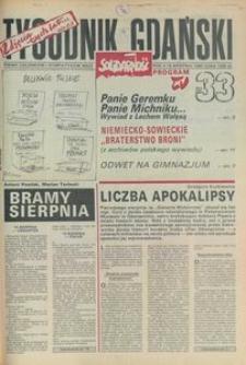 Tygodnik Gdański, 1990, nr 33