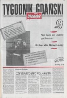 Tygodnik Gdański, 1989, nr 9