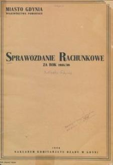 Sprawozdanie rachunkowe za rok 1935/36