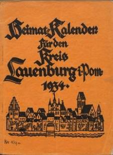 Heimatkalender für den Kreis Lauenburg i. Pom. für das Jahr 1934