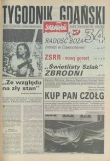 Tygodnik Gdański, 1991, nr 34