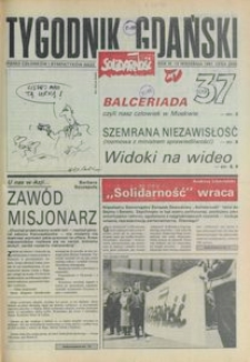 Tygodnik Gdański, 1991, nr 37