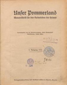 Unser Pommerland : Monatsschrift für das Kulturleben der Heimat : 9. Jahrgang 1924