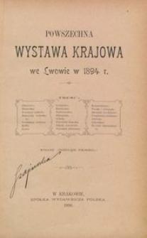 Powszechna Wystawa Krajowa we Lwowie w 1894 r.