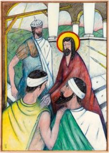 Droga krzyżowa. Stacja I. Jezus na śmierć skazany