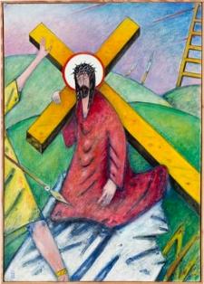 Droga krzyżowa. Stacja III. Jezus upada po raz pierwszy