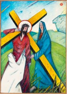 Droga krzyżowa. Stacja IV. Jezus spotyka swoją Matkę