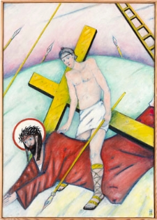 Droga krzyżowa. Stacja VII. Jezus upada po raz drugi