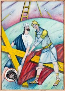 Droga krzyżowa. Stacja IX. Jezus upada po raz trzeci