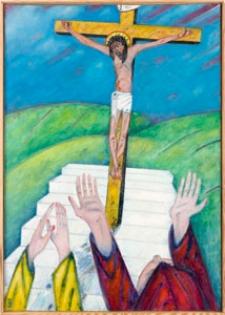 Droga krzyżowa. Stacja XII. Jezus umiera na Krzyżu