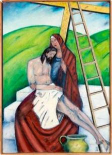Droga krzyżowa. Stacja XIII. Jezus zdjęty z krzyża