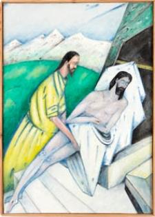 Droga krzyżowa. Stacja XVI. Jezus złożony do grobu