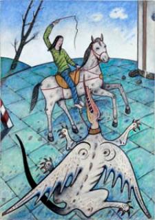 Obraz olejny - Pogromca smoka