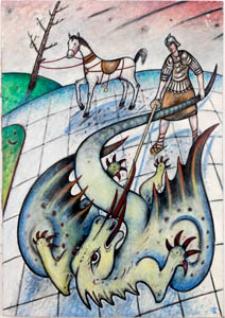 Obraz olejny - Pogromca smoka 2
