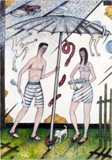 Obraz olejny - Kobieta i mężczyzna