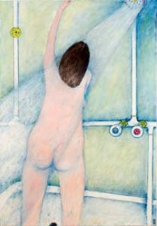 Obraz olejny - Kobieta pod prysznicem
