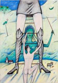 Obraz olejny - Kobieta