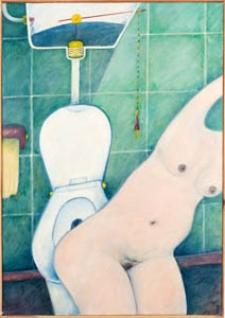 Obraz olejny - Kobieta w toalecie