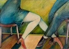 Obraz olejny - Nogi kobiety i mężczyzny