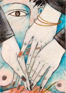 Obraz olejny - Dłonie