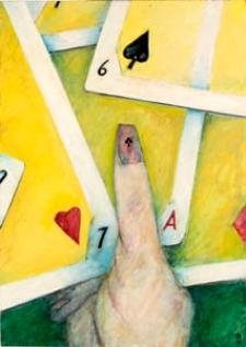 Obraz olejny - Karty do gry