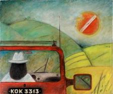 Obraz olejny - Mężczyzna w drodze