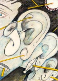Obraz olejny - Ucho i dźwięk