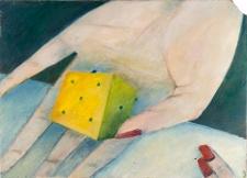 Obraz olejny - Kostka w dłoni