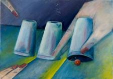 Obraz olejny - Gra w kości