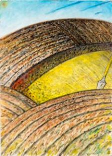Obraz olejny - Łany zboża