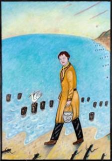 Obraz olejny - Spacerująca kobieta