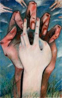 Obraz olejny - Dłonie 2
