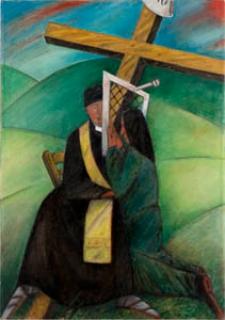 Obraz olejny - Spowiedź kobiety