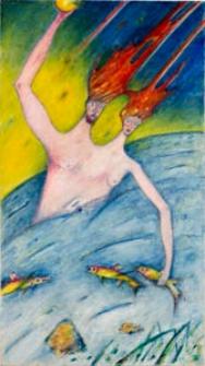 Obraz olejny - W morskich odmętach 2