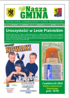 Nasza Gmina. Miesięcznik Samorządowy Gminy Wejherowo, 2016, wrzesień, Nr 08, (237