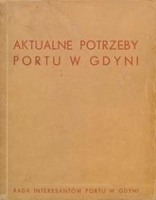 Aktualne potrzeby portu w Gdyni