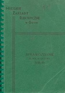 Sprawozdanie za rok budżetowy 1938/39