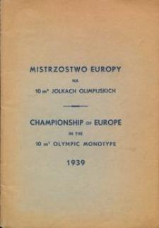 Mistrzostwo Europy na 10 m2 jolkach olimpijskich